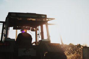 Farmer on tractor