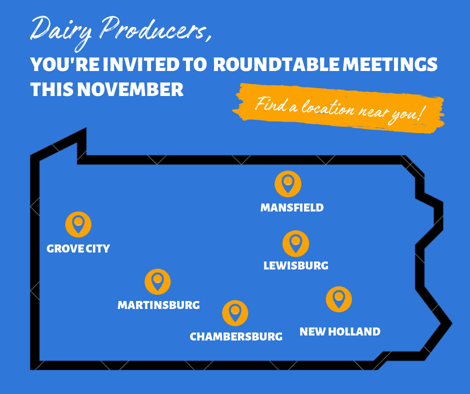 Roundtable meetings will be held this November in six locations across Pennsylvania