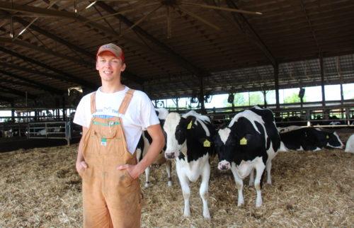 George, a 2019 on-farm intern