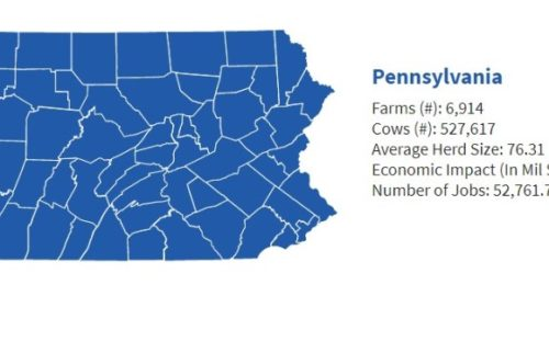The value of dairy in Pennsylvania
