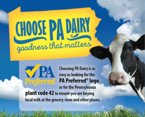 Choose PA Dairy promotional materials