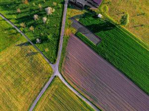 Farm overhead shot
